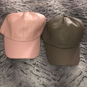 Faux Leather Baseball Hats - 2 for 1 deal!! 🤗